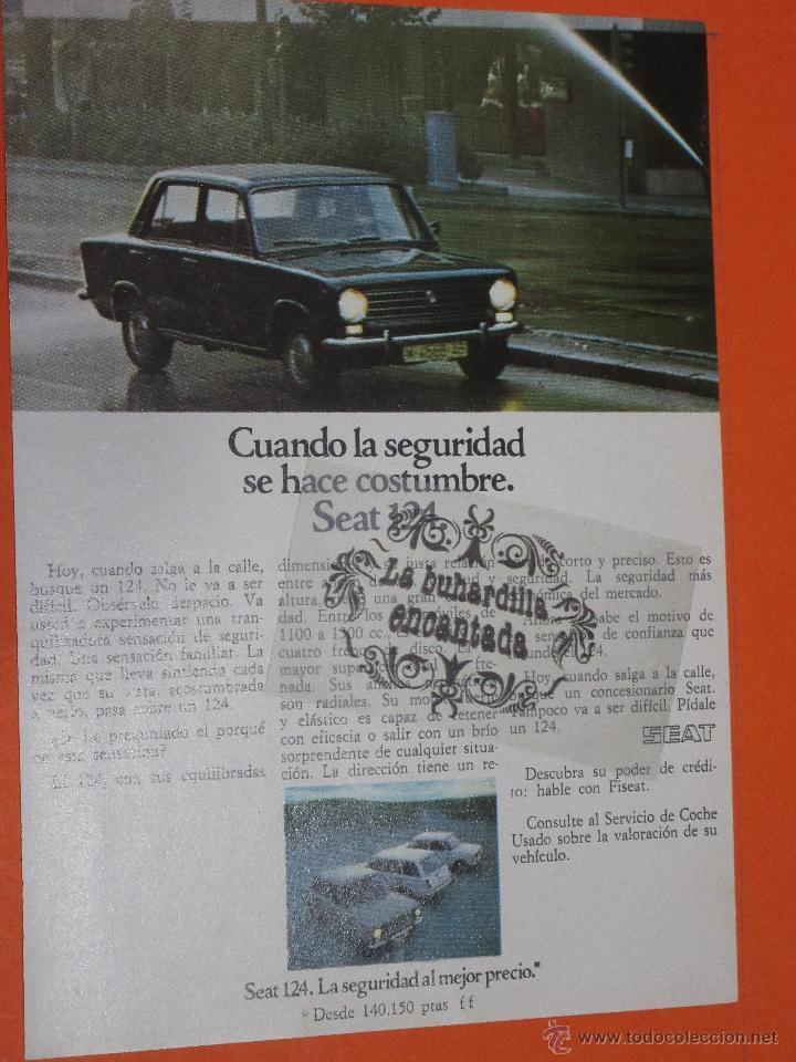 PUBLICIDAD 1974 - COLECCION COCHES - SEAT 124 (Coches y Motocicletas Antiguas y Clásicas - Catálogos, Publicidad y Libros de mecánica)