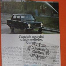 Coches y Motocicletas: PUBLICIDAD 1974 - COLECCION COCHES - SEAT 124. Lote 48476654