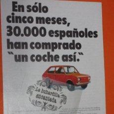 Coches y Motocicletas: PUBLICIDAD 1975 - COLECCION COCHES - SEAT 133. Lote 48476710