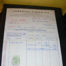 Coches y Motocicletas: AUTOMOVILES - COMERCIAL PIRELLI S.A. 1926 BARCELONA - MADRID - BILBAO - SEVILLA - LA CORUÑA , FACTUR. Lote 48492039