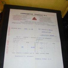 Coches y Motocicletas: AUTOMOVILES - COMERCIAL PIRELLI S.A. 1929 BARCELONA - MADRID - BILBAO - SEVILLA - LA CORUÑA , FACTUR. Lote 48498783