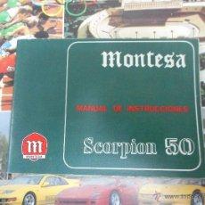 Coches y Motocicletas: MANUAL INSTRUCCIONES MONTESA SCORPION 50 COMO NUEVO. Lote 48521073