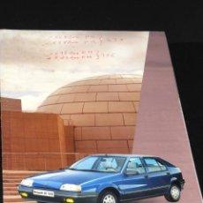 Coches y Motocicletas: ANTIGUO CATALOGO DESPLEGABLE RENAULT 19 TXE AÑO 1988. Lote 48674377