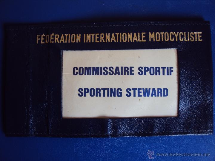 (F-1030E)BRAZALETE FEDERATION INTERNATIONALE MOTOCYCLISTE,F.I.M.COMMISSAIRE SPORTIF,SPORTING STEWARD (Coches y Motocicletas Antiguas y Clásicas - Catálogos, Publicidad y Libros de mecánica)