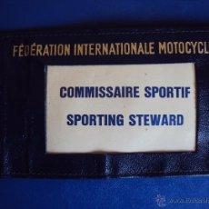 Coches y Motocicletas: (F-1030E)BRAZALETE FEDERATION INTERNATIONALE MOTOCYCLISTE,F.I.M.COMMISSAIRE SPORTIF,SPORTING STEWARD. Lote 48804891