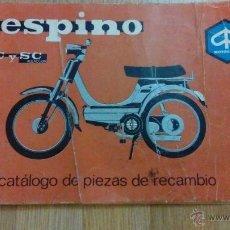 Coches y Motocicletas: VESPINO -MOTOVESPA-CATALOGO DE PIEZAS DE RECAMBIO - MUY DIFICIL. Lote 48876278