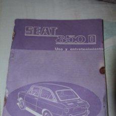 Coches y Motocicletas: MANUAL SEAT 850 D - PRIMERA EDICIÓN -REF3500- -DOCG-. Lote 48876960