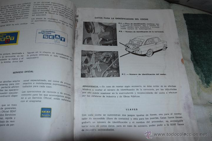 Coches y Motocicletas: MANUAL SEAT 850 D - PRIMERA EDICIÓN -REF3500- -DOCG- - Foto 2 - 48876960