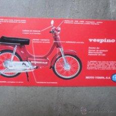 Coches y Motocicletas: CATALOGO TECNICO ORIGINAL VESPINO GL MOTO VESPA SA. Lote 48912239