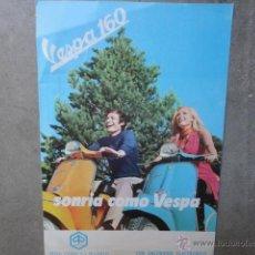 Coches y Motocicletas: LAMINA TECNICA VESPA 160 1970. Lote 98517796