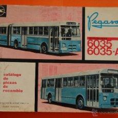 Coches y Motocicletas: CATALOGO AUTOBUS PEGASO 6035 Y 6035-A 1ª EDICION MAYO 1969. Lote 49015655