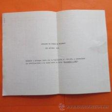 Coches y Motocicletas: LISTA DE PIEZAS DE RECAMBIO APENDICE DEL AÑO 1966 AUTOBUS PEGASO 6035A - . Lote 49141510