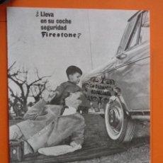 Coches y Motocicletas: PUBLICIDAD 1964 - COLECCION COCHES - NEUMATICOS FIRESTONE . Lote 49143960