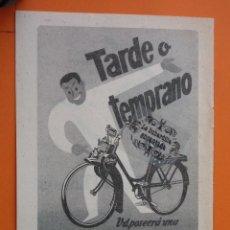 Coches y Motocicletas: PUBLICIDAD 1957 - COLECCION COCHES - MOTOS VELOSOLEX ORBEA . Lote 49144505