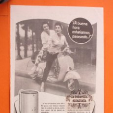 Coches y Motocicletas: PUBLICIDAD 1957 - COLECCION COCHES - MOTOS VESPA Y LAVADORAS BRU. Lote 49144714