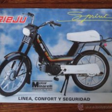 Coches y Motocicletas: FOLLETO MOTO CICLOMOTOR RIEJU SPRINT. Lote 49247693