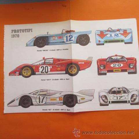 LAMINA 1970 - PROTOTIPOS PORSCHE 908/3 Y 917 FERRARI 512 S FIAT ABARTH 3000 MATRA SIMCA 660 ALFA ROM (Coches y Motocicletas Antiguas y Clásicas - Catálogos, Publicidad y Libros de mecánica)