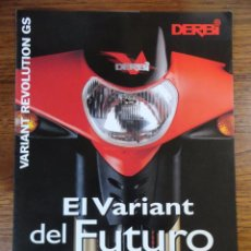 Coches y Motocicletas: FOLLETO MOTO CICLOMOTOR DERBI VARIANT REVOLUTION GS 1997. Lote 142507222