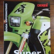 Coches y Motocicletas: FOLLETO MOTO DERBI SENDA SUPERMOTARD 1997. Lote 49289038