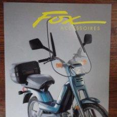 Coches y Motocicletas: FOLLETO MOTO PEUGEOT FOX ACCESORIOS. Lote 49289741