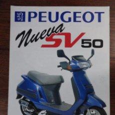 Coches y Motocicletas: FOLLETO MOTO PEUGEOT SCOOTER NUEVA SV 50. Lote 49289799