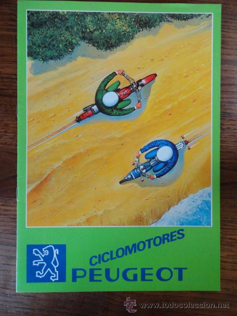 FOLLETO CATALOGO MOTO PEUGEOT CICLOMOTORES 1981 (Coches y Motocicletas Antiguas y Clásicas - Catálogos, Publicidad y Libros de mecánica)