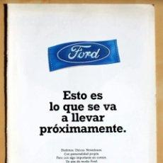 Coches y Motocicletas: FORD, CATALOGO PUBLICIDAD ORIGINAL. Lote 49316954