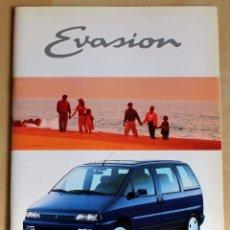 Coches y Motocicletas: CITROËN EVASION CATALOGO PUBLICIDAD ORIGINAL. Lote 49318193