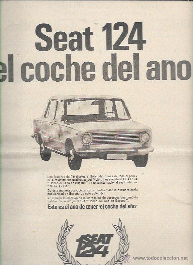 Anuncio Año 1969 PublicitarioSeat 124Coche Del XZOuwkiPT