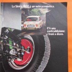 Coches y Motocicletas: PUBLICIDAD 1970 - COLECCION COCHES - SIMCA 1000 S. Lote 49380004