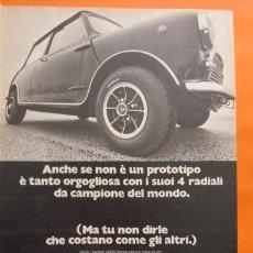 Coches y Motocicletas: PUBLICIDAD 1970 - COLECCION COCHES - NEUMATICOS DUNLOP Y MINI. Lote 50190161