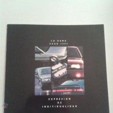 Coches y Motocicletas: CATALOGO SAAB 9000 - LA GAMA 1995 - AÑO 1995. Lote 49420125