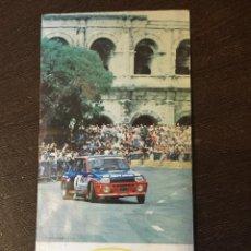 Coches y Motocicletas: TRÍPTICO INFORMACION RALLYE DES GARRIGUES - 1984 - CAMPEONATO DE EUROPA. Lote 49426240