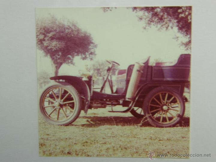 Coches y Motocicletas: nueve fotos enmarcadas coche renault type G 8 HP matrícula M-182 años 60 34,5x34,5cms - Foto 2 - 49540721