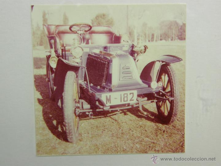 Coches y Motocicletas: nueve fotos enmarcadas coche renault type G 8 HP matrícula M-182 años 60 34,5x34,5cms - Foto 3 - 49540721