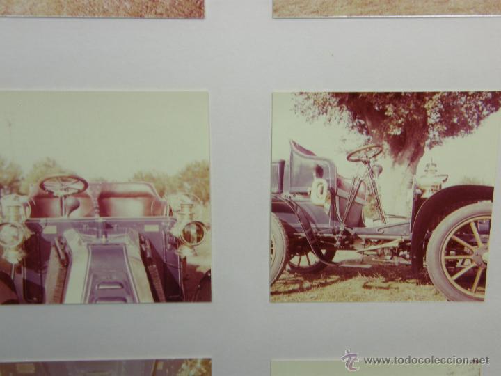 Coches y Motocicletas: nueve fotos enmarcadas coche renault type G 8 HP matrícula M-182 años 60 34,5x34,5cms - Foto 6 - 49540721