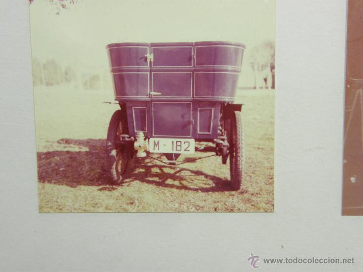 Coches y Motocicletas: nueve fotos enmarcadas coche renault type G 8 HP matrícula M-182 años 60 34,5x34,5cms - Foto 8 - 49540721