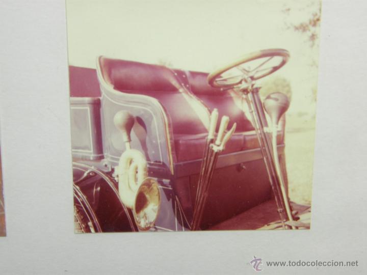 Coches y Motocicletas: nueve fotos enmarcadas coche renault type G 8 HP matrícula M-182 años 60 34,5x34,5cms - Foto 9 - 49540721