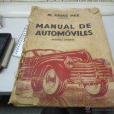 Coches y Motocicletas: MANUAL AUTOMOVILES DE 1941 DE ARIAS PAZ. Lote 90141230