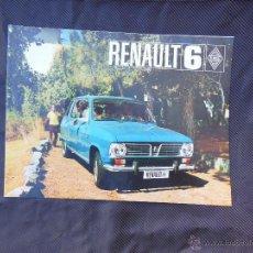 Coches y Motocicletas: ANTIGUO CÁTALOGO . RENAULT 6 . ( VER FOTOS ADICONALES ).. Lote 49684236