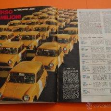 Coches y Motocicletas: ARTICULO 1970 - EL FENOMENO MINI SU EVOLUCION HASTA EL 1970 - 6 PAGINAS. Lote 49712741