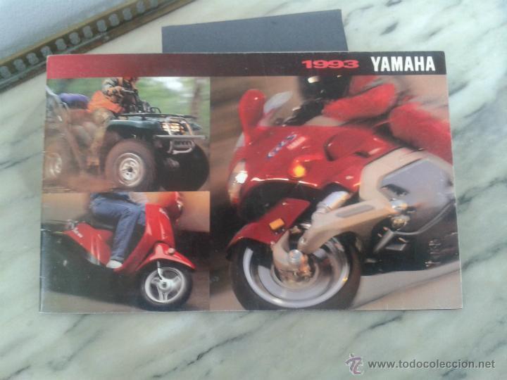 CATALOGO GAMA YAMAHA 1993 ESTADOS UNIDOS DIFICIL DE ENCONTRAR (Coches y Motocicletas Antiguas y Clásicas - Catálogos, Publicidad y Libros de mecánica)