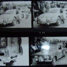 Coches y Motocicletas: CLICHES Y FOTO RESUMEN ORIGINAL DEL PASO POR ZARAGOZA DEL RALLY MONTECARLO EN 1970. MUY INTERESANTE. Lote 49827365