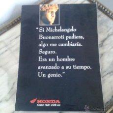Coches y Motocicletas: CATALOGO GAMA HONDA 1994 - DESPLEGABLE GRAN DIMENSION. Lote 49859773