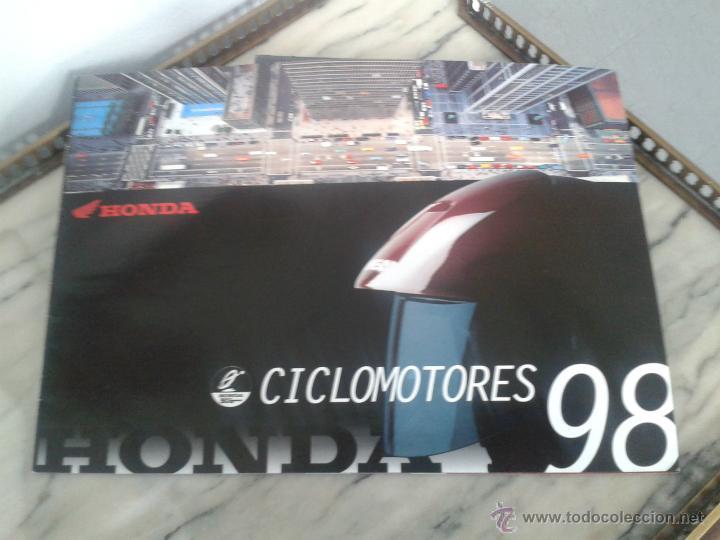 CATALOGO CICLOMOTORES HONDA 1998 - NS 1 - CRM - SCOOPY - WALLAROO - SFX - EXCITER - CRM - SHADOW (Coches y Motocicletas Antiguas y Clásicas - Catálogos, Publicidad y Libros de mecánica)
