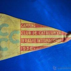 Coches y Motocicletas: (F-065)BANDERIN CAMPING CLUB DE CATALUNYA,IV RALLYE INT.1936(BCN)-C.C.CATALUNYA IV CONGRES CALDES M.. Lote 49870880