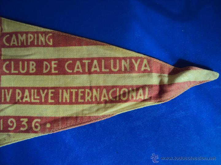 Coches y Motocicletas: (F-065)BANDERIN CAMPING CLUB DE CATALUNYA,IV RALLYE INT.1936(BCN)-C.C.CATALUNYA IV CONGRES CALDES M. - Foto 2 - 49870880