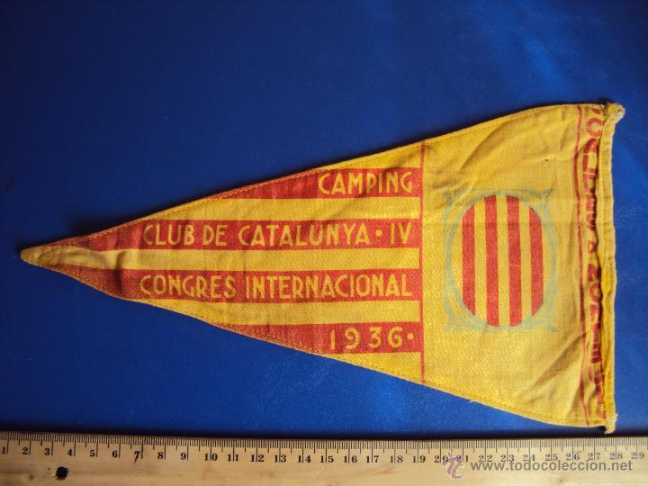 Coches y Motocicletas: (F-065)BANDERIN CAMPING CLUB DE CATALUNYA,IV RALLYE INT.1936(BCN)-C.C.CATALUNYA IV CONGRES CALDES M. - Foto 4 - 49870880