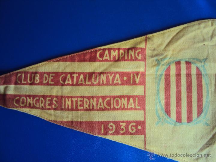 Coches y Motocicletas: (F-065)BANDERIN CAMPING CLUB DE CATALUNYA,IV RALLYE INT.1936(BCN)-C.C.CATALUNYA IV CONGRES CALDES M. - Foto 5 - 49870880