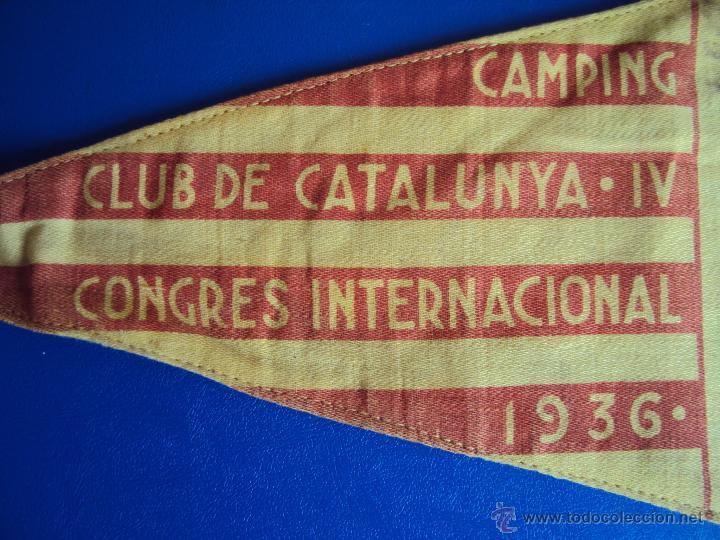 Coches y Motocicletas: (F-065)BANDERIN CAMPING CLUB DE CATALUNYA,IV RALLYE INT.1936(BCN)-C.C.CATALUNYA IV CONGRES CALDES M. - Foto 8 - 49870880